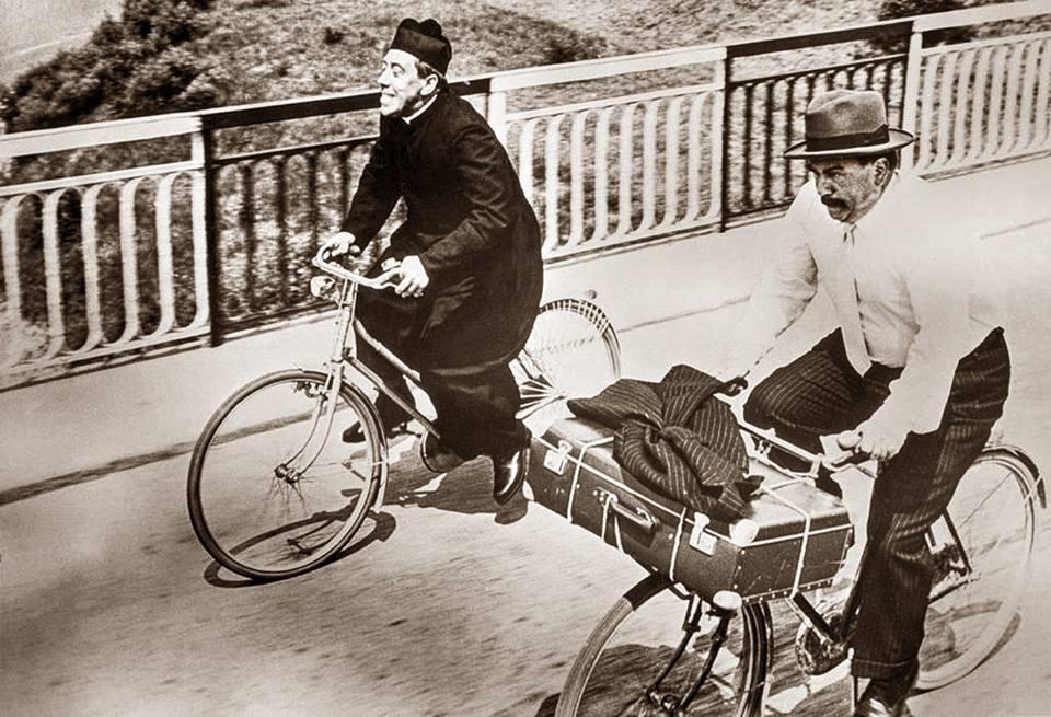 cicloturisti sul Po