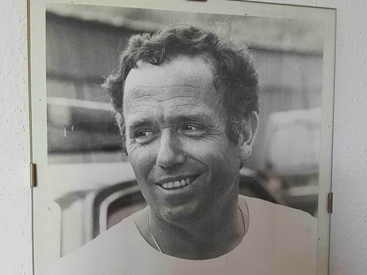 Giuseppe Landini ai tempi in cui correva sul Grande Fiume