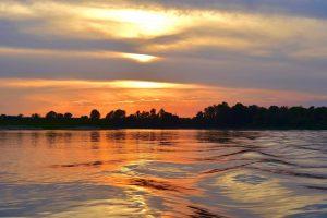 il grande fiume al tramonto, foto di Claudio Cabrini