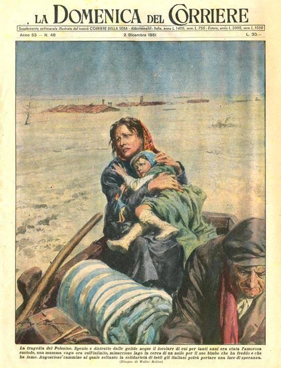 l'alluvione in copertina - 1951